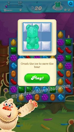 انقذ دببة الحلوى الجليدية لتفوز في لعبة كاندي كراش ساجا صودا