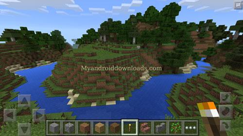 عليك اكتشاف المكان لاختيار الموقع المناسب لكي تبدا بالتركيب بعد تحميل لعبة ماين كرافت للاندرويد Minecraft لعبة الاثارة والتحدي
