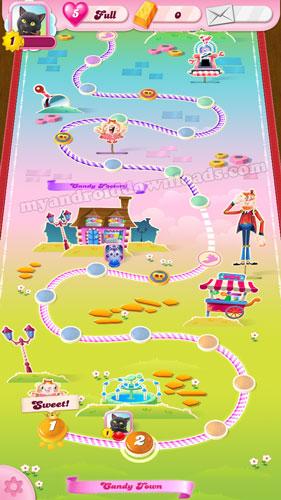 مراحل متعددة ومتنوعة في لعبة كاندي كراش ساجا - التحديث الاخير