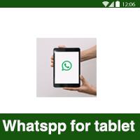 تحميل برنامج واتس اب تابلت WhatsApp