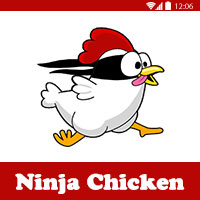 تحميل لعبة الفرخة النينجا للاندرويد و للتابلت Ninja Chicken