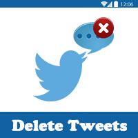 طريقة حذف التغريدات من التويتر دفعة واحدة Delete All Tweets مسح التغريدات