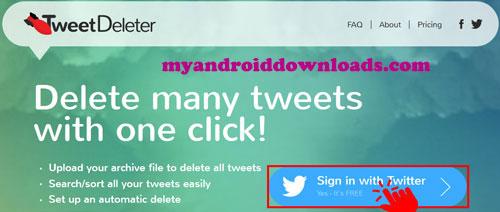 تسجيل الدخول باستخدام حسابك الخاص بتويتر -طريقة حذف التغريدات من التويتر والمنشن كلها Delete All Tweets