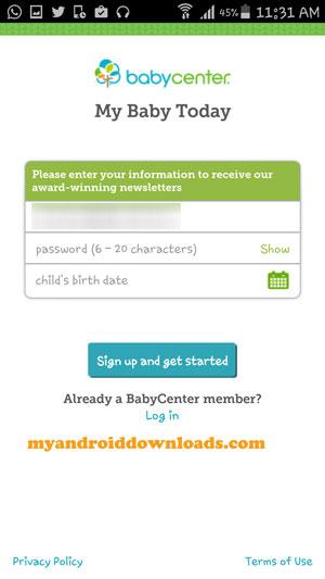 تحميل برنامج My Baby Today للمحمول للرعاية الصحية لاطفال حديثي الولادة