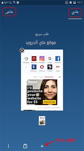 التصفح في برنامج اوبرا ميني عربي 2021