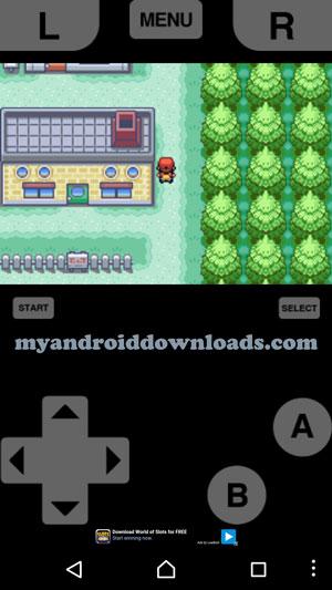 أثناء التجول في الغابة في لعبة بوكيمون فاير للاندرويد - تحميل لعبة بوكيمون فاير للاندرويد Pokemon Fire Red