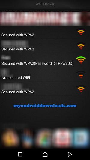 الشبكات المتاحة من حولك من خلال تطبيق فتح شبكات الواي فاي بدون برامج في الموبايل