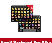تحميل برنامج لوحة المفاتيح فيسات للاندرويدEmoji Keyboard Pro Kika مجانا عربي