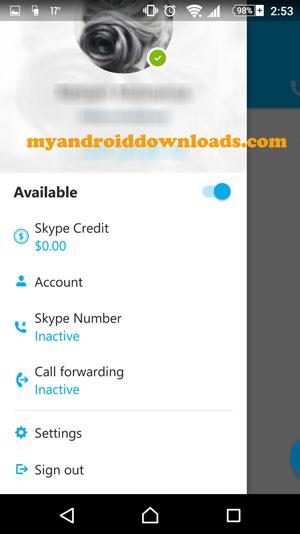 من خلال الاعدادات البرنامج - تحميل برنامج سكايب للاندرويد Skype مجانا برابط مباشر