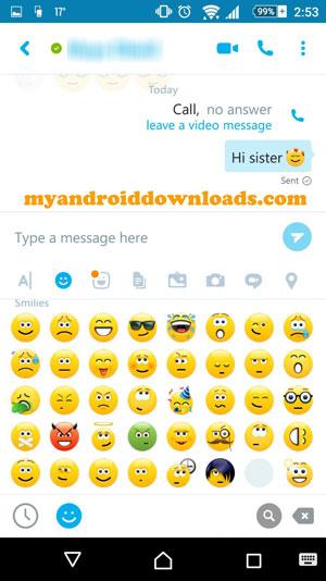 يتيح لك برنامج skype المحادثة النصية مع اصدقائك - برنامج سكاي بي للاندرويد اخر اصدار