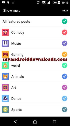 تحديد المواضيع التي ترغب بمتابعتها - تحميل برنامج لرفع فيديو على تويتر للاندرويد Vine مجانا