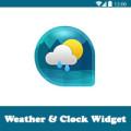 تحميل ويدجت الطقس والساعة الشفافة للاندرويد Weather & Clock Widget