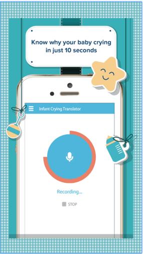تسجيل صوت الطفل - تحميل برنامج ترجمة بكاء الطفل للاندرويد Infant Crying Translator تفسير بكاء الرضيع