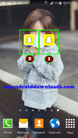 فتح حسابين سناب شات في نفس الوقت و تحميل السناب شات مرتين على نفس الهاتف