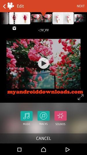 اضافة مقاطع صوتية الى الفيديو الخاص بك من خلال برنامج تعديل الفيديو و دمج الصور للموبايل