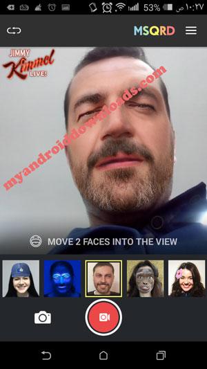 تحميل برنامج msqrd للاندرويد مجانا برنامج تبديل الوجوه في وجه اخر