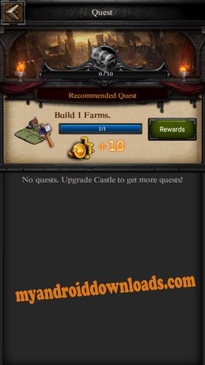 عليك انجاز المهام المطلوبة منك في كل مستوى -لعبة حرب الملوك للموبايل المحمول