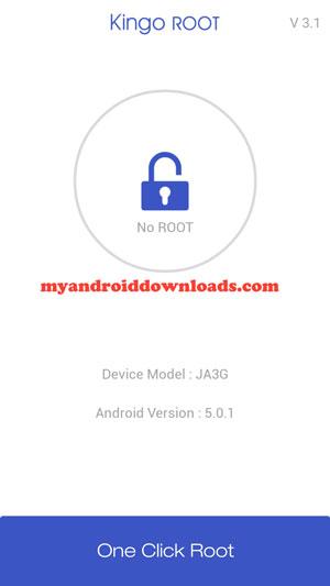 الشاشة الرئيسية و بدء عمل روت بضغطة زر واحدة - تحميل برنامج روت للاندرويد Kingo Android Root كينج روت بدون كمبيوتر مجانا