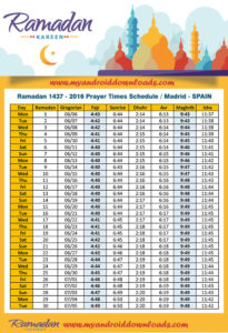 امساكية رمضان 2016 مدريد اسبانيا تقويم رمضان 1437 Ramadan Imsakia Madrid Spain Amsakah Ramadan 2016 Madrid, Spain | Amsakah Ramadan 2016 Madrid, Espagne | Amsakah Ramadán 2016 Madrid, España Fasting hours in Madrid, Spain | Heures de jeûne à Madrid, Espagne | Horas de ayuno en Madrid, España