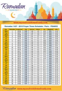 امساكية رمضان 2016 باريس فرنسا تقويم رمضان 1437 Amsakah Ramadan 2016 Paris France | Amsakah Ramadan 2016 Paris France Fasting hours in Paris, France | Heures de jeûne à Paris, France