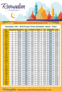 امساكية رمضان 2016 روما ايطاليا تقويم رمضان 1437 Amsakah Ramadan 2016 Rome Italy | Amsakah Ramadan 2016 Rome Italie | Amsakah Ramadan 2016 Roma Italia Fasting hours in Rome, Italy | Heures de jeûne à Rome, Italie | Ore di digiuno a Roma, Italia