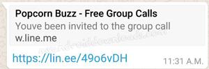 نشر روابط بوب كورن مكالمات Popcorn Buzz Groups قروبات المكالمات الصوتية