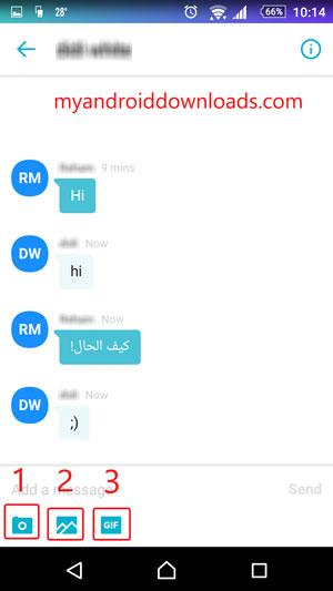 اجراء محادثات نصية مع الاصدقاء من خلال برنامج ياهو ماسنجر للموبايل