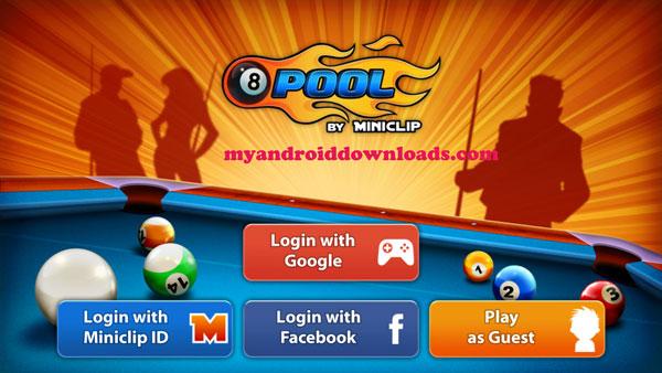 تحميل لعبة بلياردو للاندرويد - تسجيل الدخول باستخدام حساب تمتلكه او انشاء حساب جديد على اللعبة