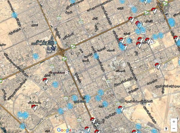 خريطة البوك ستوب و الجيم في منطقتك من اجل لعبه بوكيمون غو - تحميل لعبة بوكيمون جو للاندرويد و الايفون ، تحميل بوكيمون غو من افضل العاب بوكيمون - لعبة بوكيمون قو
