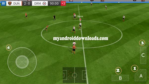 تحميل لعبة دريم ليج للاندرويد Dream League Soccer 2016 العاب كورة- من خلال، A، B ،C يسمح لك اللعب بكل حرية