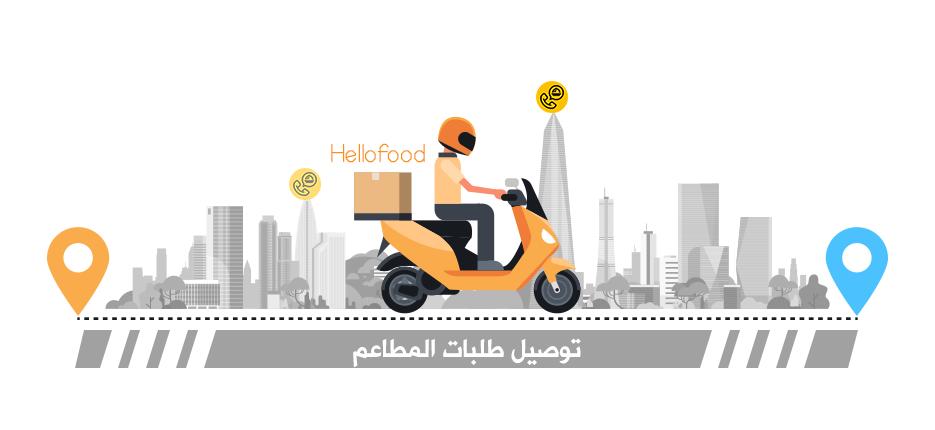 شرح برنامج هلوفود لتوصيل الطعام للاندرويد Hellofood توصيل طلبات المطاعم