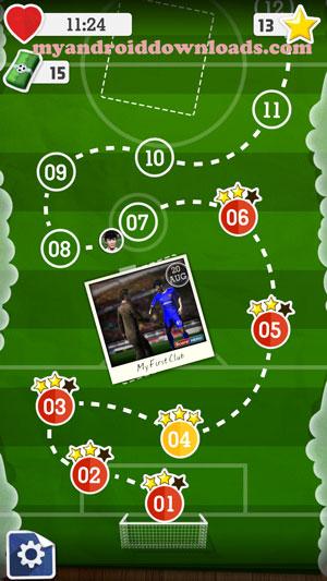 تحميل لعبة سكور هيرو للاندرويد Score Here مجانا لعبة كرة القدم 2016 - المراحل التي سوف تخوضها من خلال المرحلة الاولى بعد تحميل لعبة score للموبايل