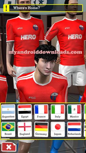 تحميل لعبة سكور هيرو للاندرويد Score Here مجانا لعبة كرة القدم 2016 - اختيار الشخصية التي ترغب من خلال لعبة سكور هيرو score hero للاندرويد