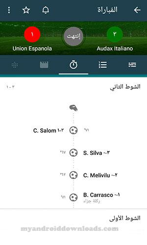 وصف مجريات الشوط الثاني - تحميل تطبيق Forza Football للاندرويد
