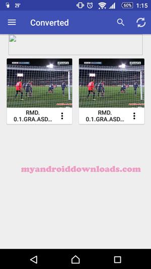 تحميل برنامج تحويل الصيغ الفيديو للاندرويد Audio/Video Converter شرح بالصور - مقاطع الفيديو التي تم تحويل صيغتها الى صيغ مختلفة من خلال تنزيل برنامج تحويل صيغ الفيديو للموبايل