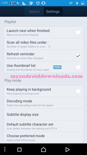 تحميل برنامج QQ Player للاندرويد تنزيل كيو كيو بلاير مجانا 2016 - الاعدادات الخاصة في برنامج QQ Player كيو كيو بلاير 2016