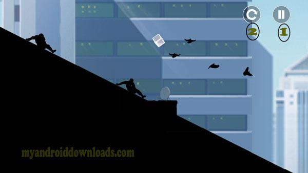 الهروب من الاعداء اما بالجري او القفز او الانحناء -تحميل لعبة Vector للاندرويد فيكتور كاملة لعبة المطاردة 2016 مجانا