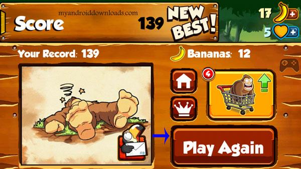 تحميل لعبة القرد و الموز في الغابة للاندرويد banana kong القرد الشقي