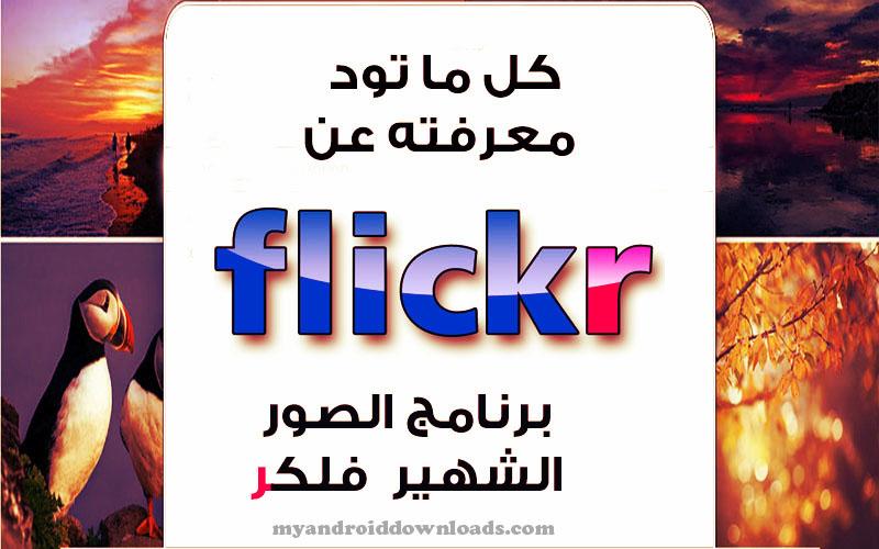 ماهو برنامج flickr للصور كل ما تود معرفته عن فلكر شرح وافي ومفصل