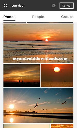 معاينة معارض الصور - تحميل برنامج Flickr للاندرويد