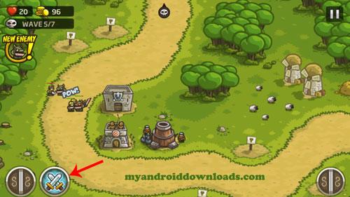استدعاء جنود - تحميل لعبة kingdom rush للاندرويد