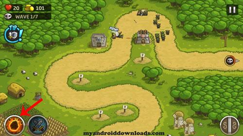 اختيار برج دفاعي جديد - تحميل لعبة kingdom rush للاندرويد