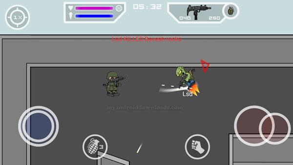 خوض المعركة والتنقل والطيران أثناء لعبة Mini Militia اخر اصدار
