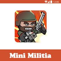 تحميل لعبة mini militia مهكرة اخر اصدار