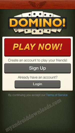 بعد تحميل لعبة الدومينو للاندرويد عليك تسجيل الدخول بحسابك حتى تتمكن من اللعب بكل سهولة - لعبة domino
