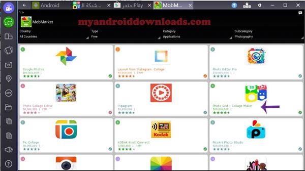 تنزيل فوتو جريد على الكمبيوتر من خلال موبوماركت - تحميل برنامج شبكة الصور للكمبيوتر فوتو جريد مجانا photo grid for pc