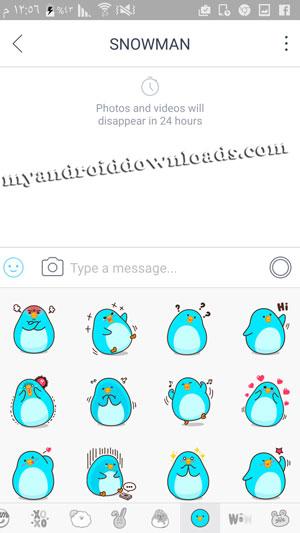 كيفية المحادثة مع الاصدقاء في تطبيق snow - تحميل برنامج snow للاندرويد