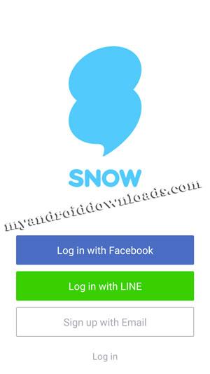 كيفية تسجيل الدخول الى تطبيق snow باستخدام فيسبوك او لاين - تحميل برنامج snow للاندرويد