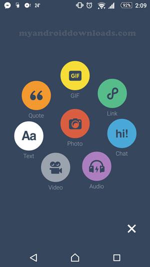 ما هو برنامج تمبلر شرح تمبلر للاندرويد ما هو tumblr شرح تمبلر 2016 - الواجهة الرئيسية لبرنامج tumblr للاندرويد