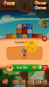اثناء اللعب بعد تحميل لعبة Angry Birds Blast للاندرويد